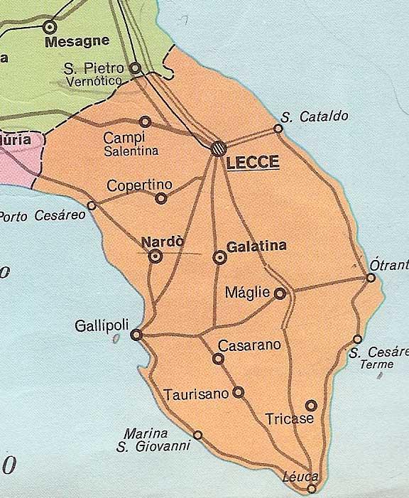 Lecce Puglia Cartina.Cartina Della Puglia E Mappe