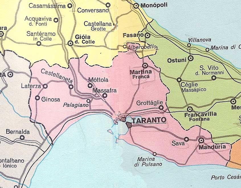 Cartina Autostradale Della Puglia.Cartina Della Puglia E Mappe